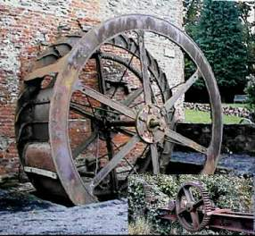 An old water wheel